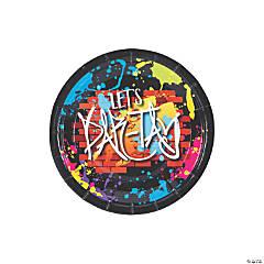 Bulk Graffiti Paper Dessert Plates