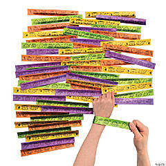 Bulk Halloween Slap Bracelet Assortment - 100 Pc.