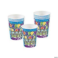 Bulk Happy Birthday Cake Paper Cups