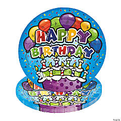 Bulk Happy Birthday Cake Paper Dessert Plates