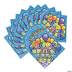 Bulk Happy Birthday Cake Paper Luncheon Napkins