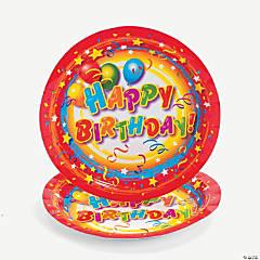 Bulk Happy Birthday Paper Dessert Plates