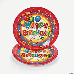 Bulk Happy Birthday Paper Dinner Plates