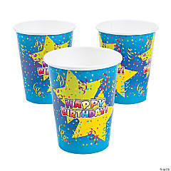 Bulk Happy Birthday Star Paper Cups
