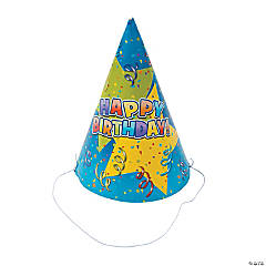 Bulk Happy Birthday Star Paper Party Hats