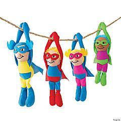 Bulk Long Arm Plush Superheroes - 72 Pc.