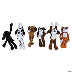 Bulk Long Arm Stuffed Dogs - 72 Pc.