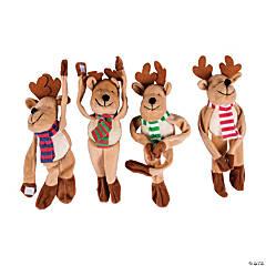 Bulk Long Arm Stuffed Reindeer - 72 Pc.