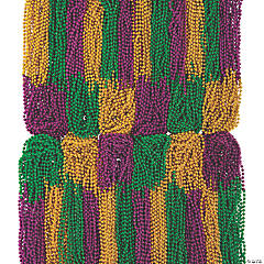 Bulk Mardi Gras Beaded Necklace Assortment - 1000 Pc.