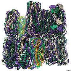 Bulk Mardi Gras Beaded Necklace Assortment - 500 Pc.