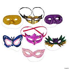 Bulk Mardi Gras Mask Value Assortment - 100 pcs.