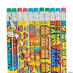Bulk Mega Emoji Pencil Assortment - 144 Pc.