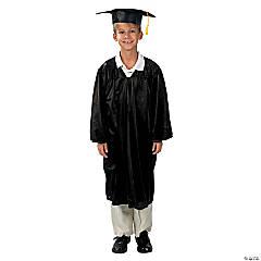 Bulk Middle School Black Graduation Cap & Gown Sets for 12