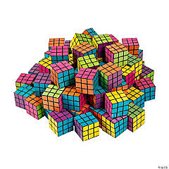 Bulk Mini Bright Puzzle Cubes