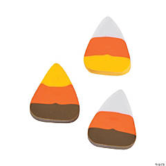 Bulk Mini Candy Corn Erasers - 144 Pc.