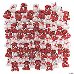 Bulk Mini Hugs & Kisses Stuffed Bears  - 72 Pc.