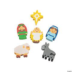 Bulk Mini Nativity Eraser Assortment - 144 Pc.