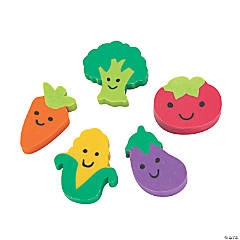 Bulk Mini Vegetable Erasers - 300 Pc.