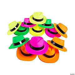 Bulk Neon Fedora Hats