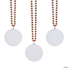 Bulk Orange Bead Necklaces with Round Discs - 150 Pc.