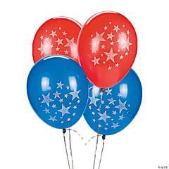 "Bulk Patriotic 11"" Latex Balloons"