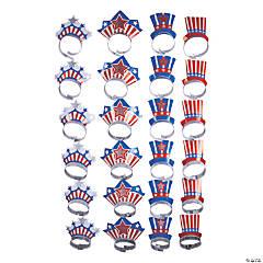 Bulk Patriotic Cardstock Headbands