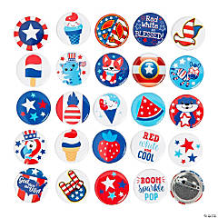 Bulk Patriotic Mini Button Assortment - 250 Pc.