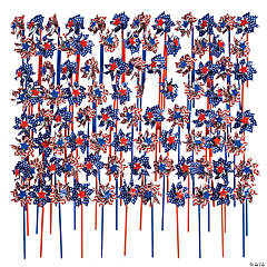 Bulk Patriotic Pinwheels - 144 Pc.