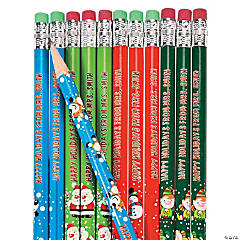 Bulk Personalized Christmas Pencils - 72 Pc.