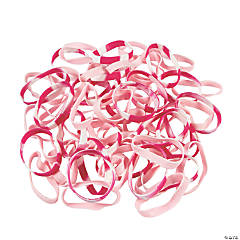 Bulk Pink Ribbon Bracelet Assortment