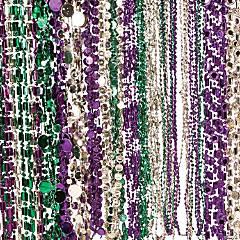 Bulk Plastic Mardi Gras Beaded Necklace Assortment - 144 Pc.