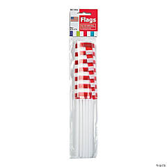 Bulk Plastic Small American Flags - 6