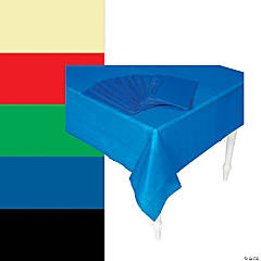 Bulk Plastic Tablecloths - 12 Pc.