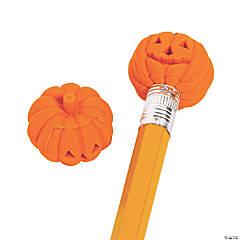 Bulk Pumpkin Eraser Pencil Toppers - 144 Pc.