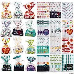 Bulk Religious Cellophane Bag Assortment - 240 Pc.