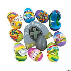 Bulk Religious Toy-Filled Plastic Easter Egg Assortment - 144 Pc.