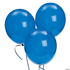 "Bulk Sapphire Blue Latex Balloons - 11"""
