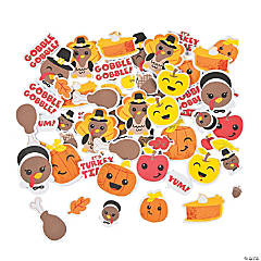 Bulk Silly Thanksgiving Self-Adhesive Shapes
