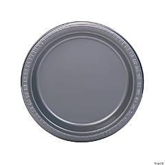 Bulk Silver Plastic Dinner Plates - 50 Ct.