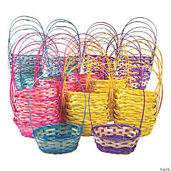 Bulk Small Ombre Bamboo Baskets - 72 Pc.