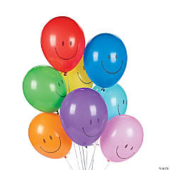 "Bulk Smile Face 10"" Latex Balloons"
