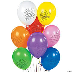 """Bulk Smile! Jesus Loves You! 10"""" Latex Balloons"""