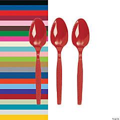 Bulk Solid Color Plastic Spoons - 50 Ct.