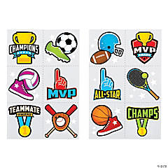 Bulk Sports Icon Tattoo Assortment