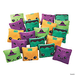 Bulk Square Plush Halloween Characters - 60 Pc.