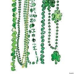 Bulk St. Patrick's Day Beaded Necklace Assortment - 144 Pc.