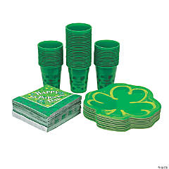 Bulk St. Patrick's Day Tableware Kit for 50 Guests