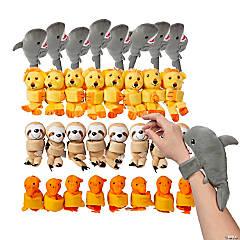 Bulk Stuffed Hugging Animal Assortment Slap Bracelets