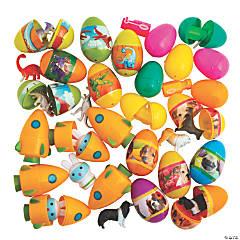 Bulk Toy-Filled Plastic Easter Egg Assortment - 240 Pc.