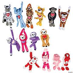 Bulk Valentine Long Arm Stuffed Animal Assortment